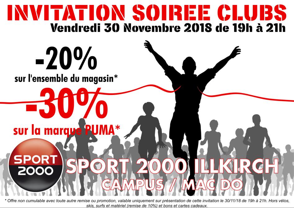 Soirée clubs SPORT 2000